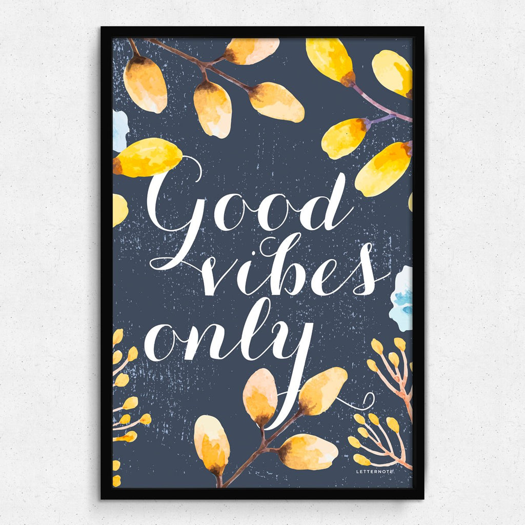 Good Vibes Framed Art