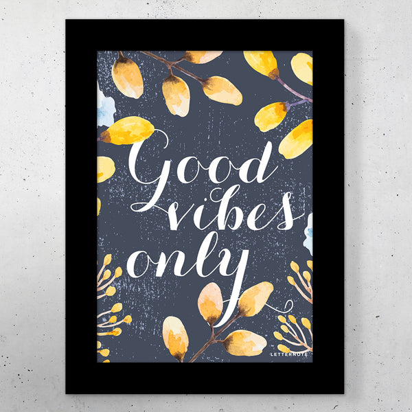 "Good Vibes Small Frame (5"" x 7"") - LetterNote - 2"