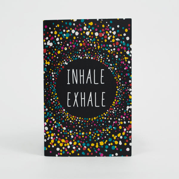 Inhale Exhale Pocket Notebook - 3.5 in x 5.5 in