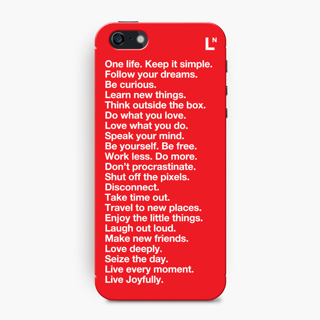 The LetterNote Manifesto -Red iPhone 5/5s/5c/SE Cover