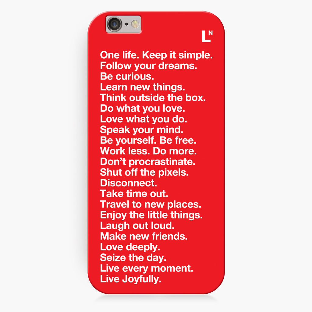 The LetterNote Manifesto iPhone 6/6S/6 plus/6s plus Cover