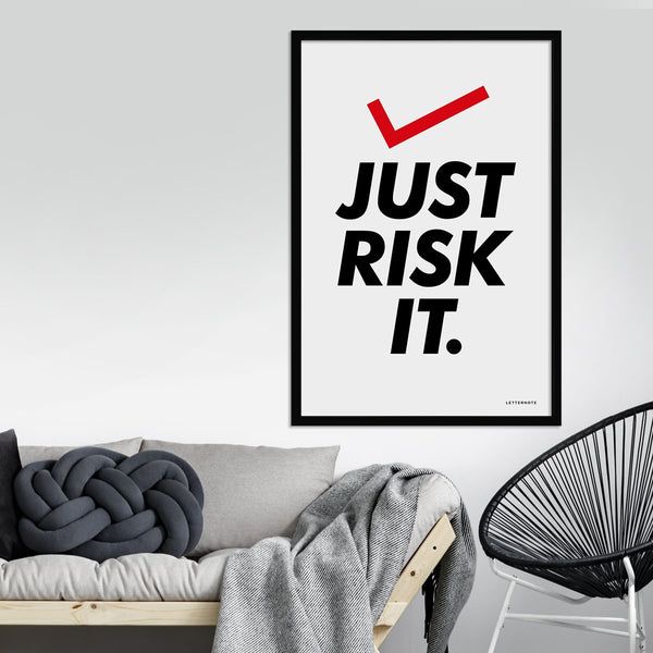 Just risk it Framed Art