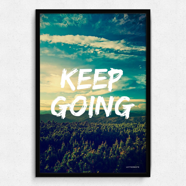 Keep Going Framed Art