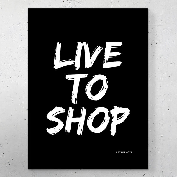 "Live to Shop Small Frame (5"" x 7"")"