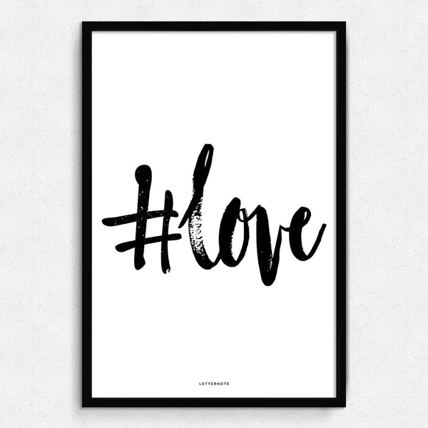 #Love Framed Art