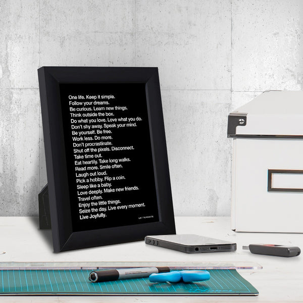 The LetterNote Manifesto Black Small Frame (5