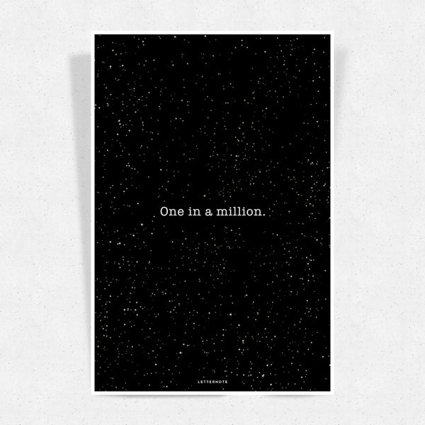 One in a million Art Print