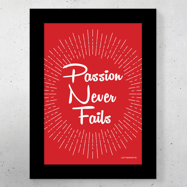 "Passion Small Frame (5"" x 7"") - LetterNote - 2"