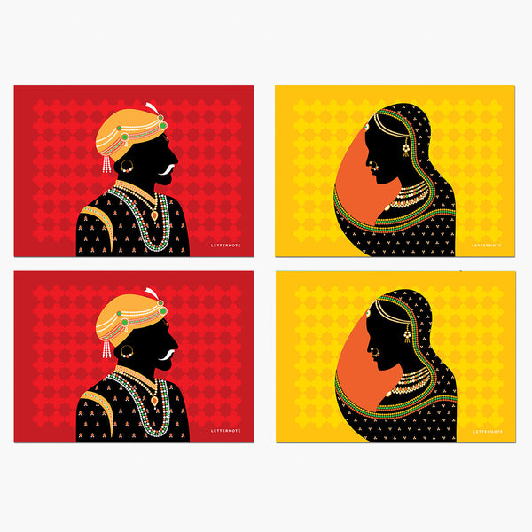 Rajput Collection Notecards - LetterNote - 2