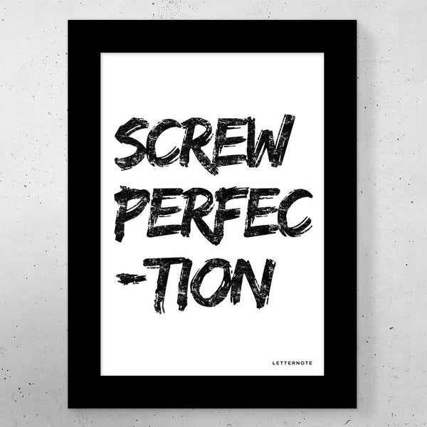 "Screw Perfection Small Frame (5"" x 7"") - LetterNote - 2"
