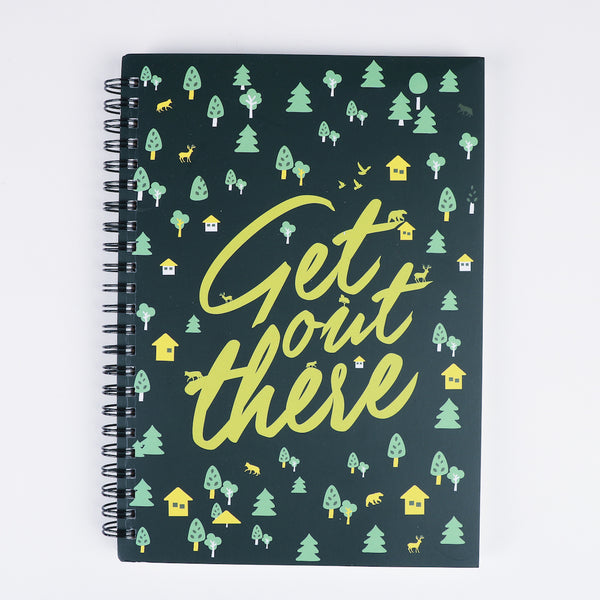 Get Out There Spiral Notebook - Olive