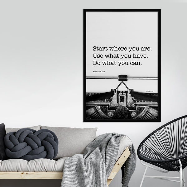 Start where you are Framed Art