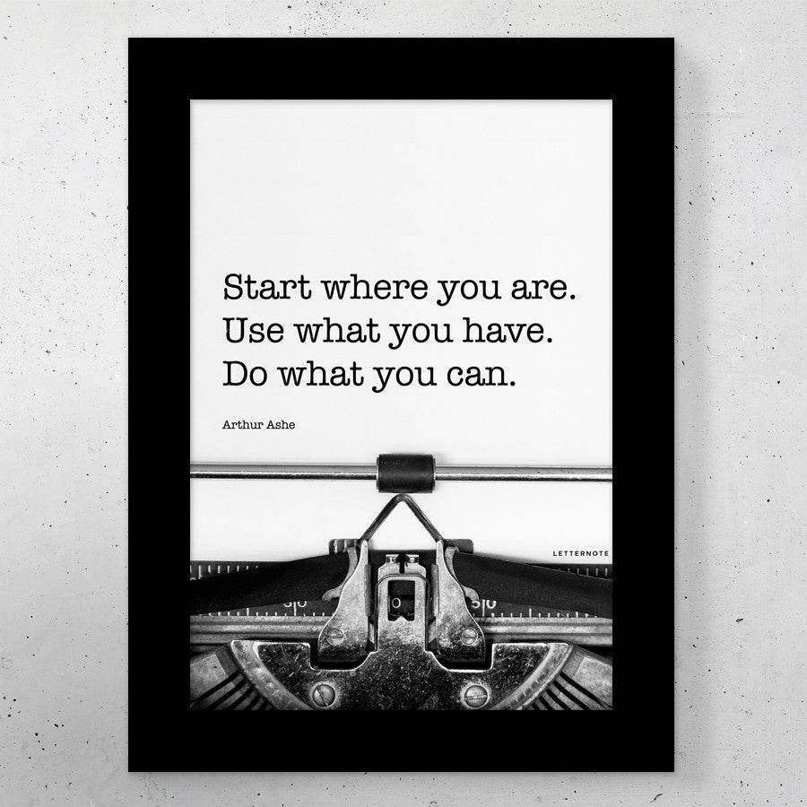 Start where you are Small Frame (5