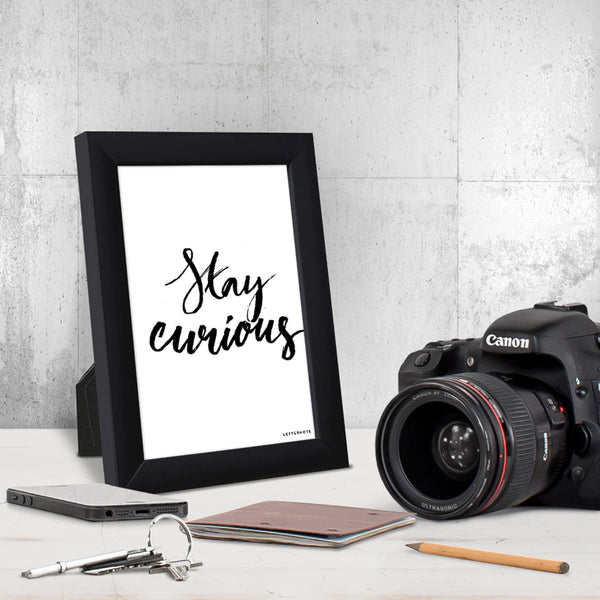 Stay Curious Small Frame (5