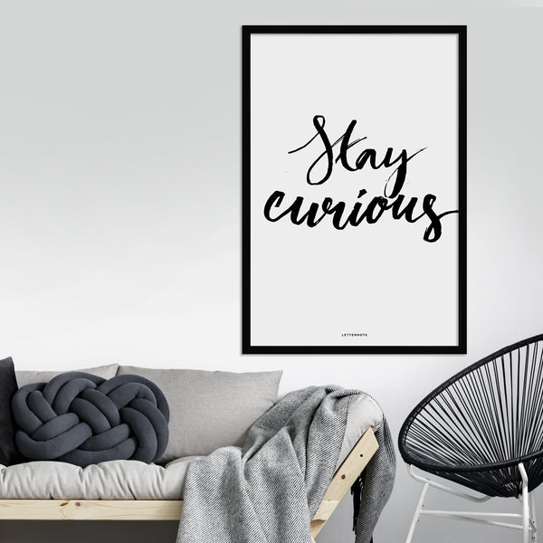 Stay Curious Framed Art
