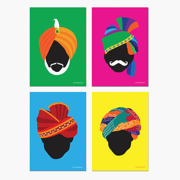 Turban Notecards - LetterNote - 2
