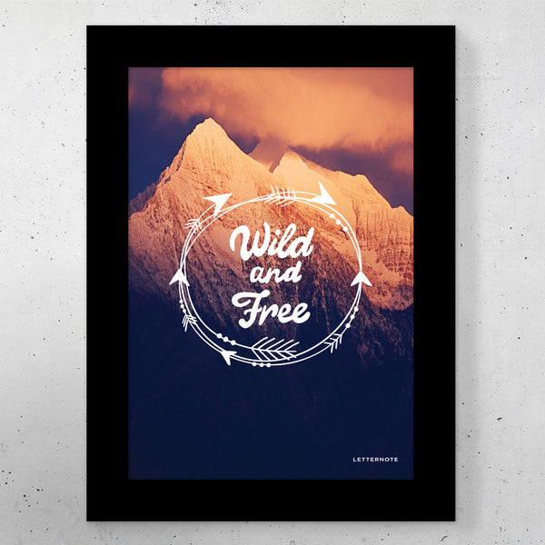 "Wild and Free Small Frame (5"" x 7"")"