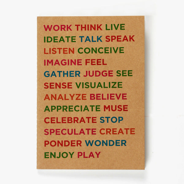 Work Play Kraft NoteBook