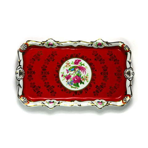 Porcelain Tray, Red