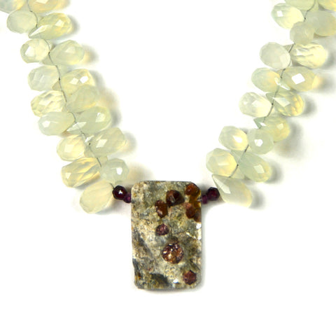 Necklace, Pyrite Center Ornament