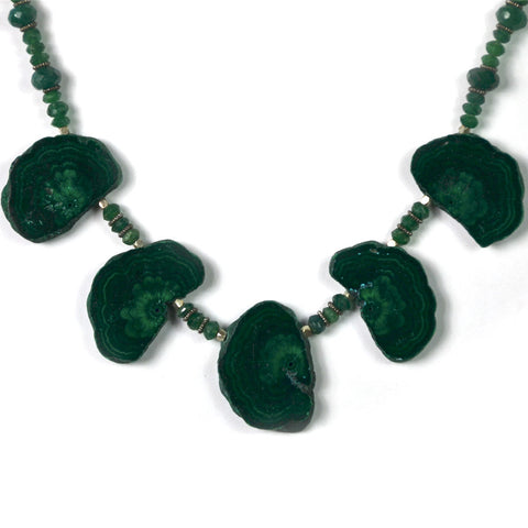 Necklace, Malachite Ornaments