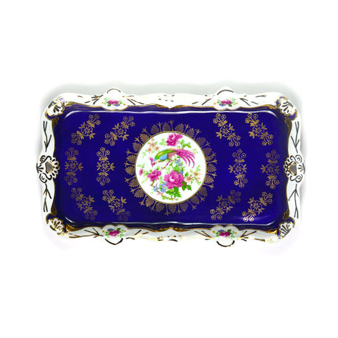 Porcelain Tray, Navy