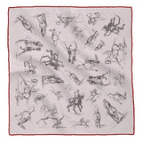 <b>SMALL SQUARE SCARF OR POCKET SQUARE<br/>Rosa Bonheur's</b> Studies of <i>a Horse and Rider</i>