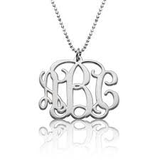 Silver Three Initial Necklace