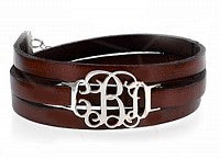 Leather Initial Bracelet