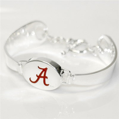 Silver Engraved Alabama Bracelet