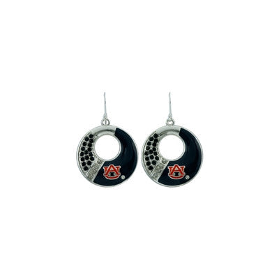 College Circle Color Earring Set
