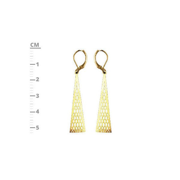 Triangle Gold Plated Hollow Earring Dangle