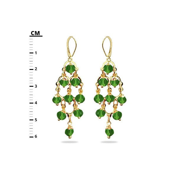 Solid Color Stone Gold Filled Earring Set