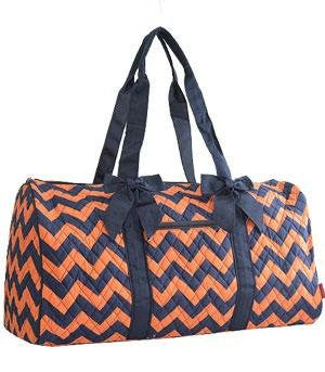 Chevron Print Quilted Duffle Bag