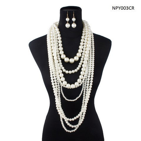 Fashion Necklace with Earring Set