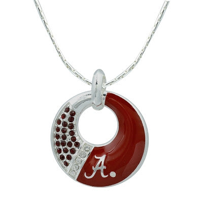 Auburn and Alabama Star Circle Necklace