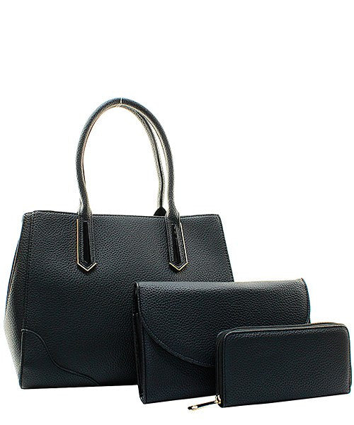 FASHION LEATHER 3 IN 1 HANDBAG SET