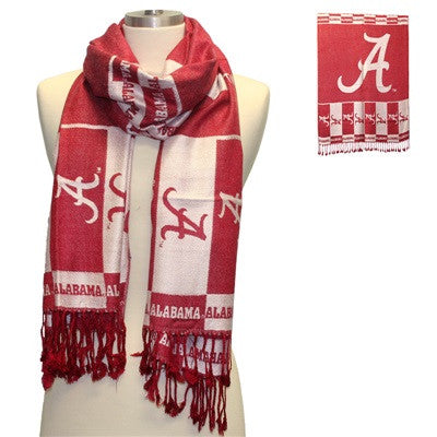 Alabama Crimson Tide /Auburn Woven Shawl Scarf
