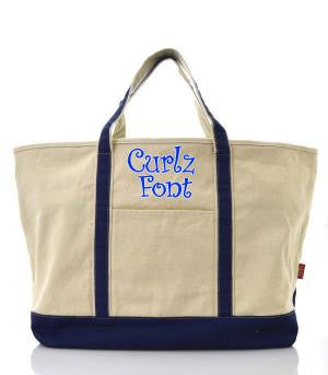 Large Navy Tote Bag