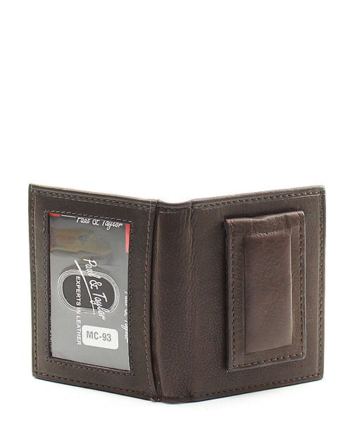 Genuine Leather Men's Magnetic Money Clip