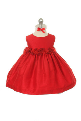 Baby Girl s Red Dupioni Holiday Party Dress - Oasislync fc9a99d9c