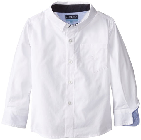 Andy & Evan Boys' White Oxford Shirt - Oasislync