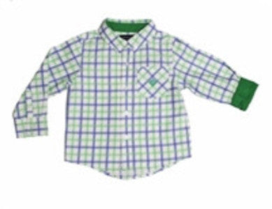 Andy & Evan Boys' Green Check Shirt - Oasislync