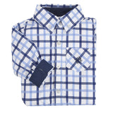 Andy & Evan Boys' Blue Large Check Shirt - Oasislync