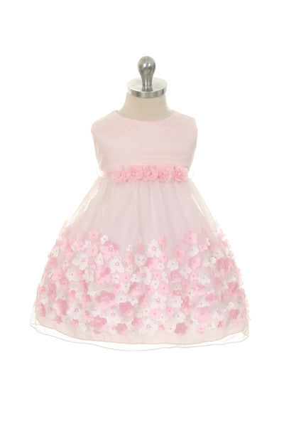 Baby Girl's Pink Mesh Party Dress - Oasislync