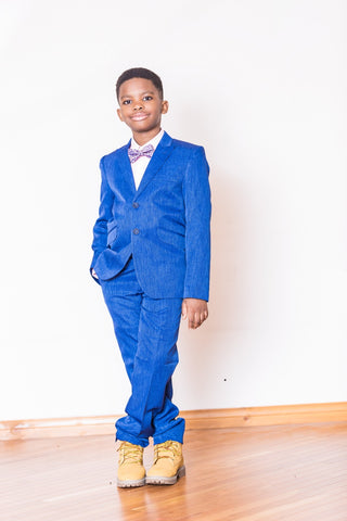 Boys 2 Piece Indigo Blue Suit - Oasislync