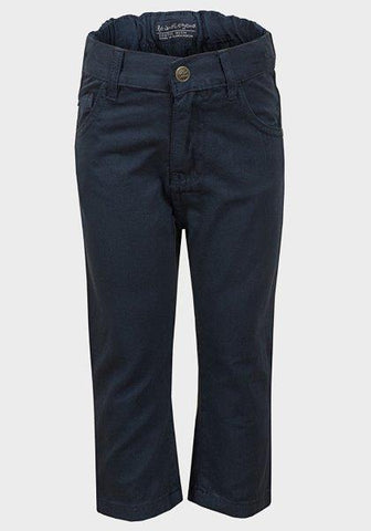 Baby Boys' Navy Blue Cotton Pants - Oasislync