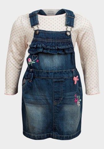 Baby Girls' Long Sleeve Bodysuit and Denim Set - Oasislync