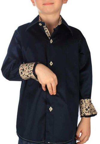 Boys' Black Button-Down Shirt - Oasislync