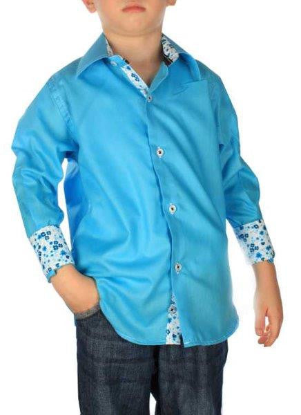 Boys' Blue Button-Down Shirt - Oasislync